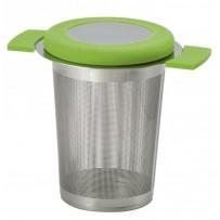 "Edelstahlsieb ""Anti-Slip Green"" Dauerfilter Filter Sieb Teesieb"