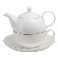 "Tea for one Set ""Platin"" 500ml"