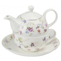 "Tea for one Set  ""Emilia"" 0,5 l mit Goldrand"