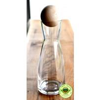 Glaskaraffe mit Zirben-Kugel Glas Karaffe