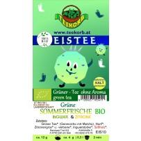 Grüne Sommerfrische Eistee Eis Tee BIO ohne Aroma Grüner Tee Grüntee