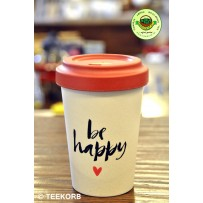 "Bamboo To-Go Cup ""Happy Calligraphy"" 400ml"
