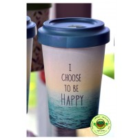 "Bamboo To-Go Cup ""Choose Happy"" 400ml"