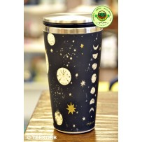 "Bamboo Cup Edelstahl Deluxe Thermobecher Isolierbecher Becher to go ""Mr. Moon"""