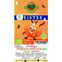 Fruchtiger Pfirsich-Spritzer BIO Eistee Früchte Tee Eis Tee