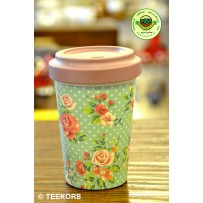 "Bamboo To-Go Cup ""Vintage Roses"" 400ml"