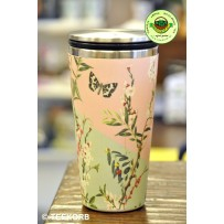 "Bamboo Cup Edelstahl Deluxe Thermobecher Isolierbecher Becher to go ""Butterfly Branches"""