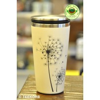 "Bamboo Cup Edelstahl Deluxe Thermobecher Isolierbecher Becher to go ""Make a wish"""