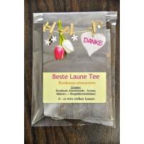 Beste Laune Tee Give away Hochzeit Mitbringsel Giveaway Geschenk