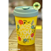 "Bamboo To-Go Cup ""Yes you can"" 400ml"